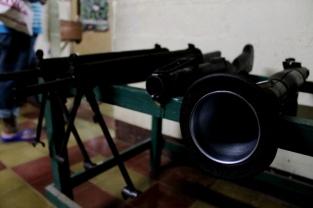 Armas utilizadas en la guerra civil salvadoreña. Museo de la Revolución Salvadoreña