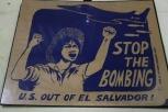 Una de las campañas utilizadas en la época de la guerra civil. Museo de la Revolución Salvadoreña