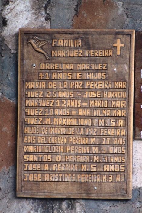 Memoria a víctimas de la masacre El Mozote.