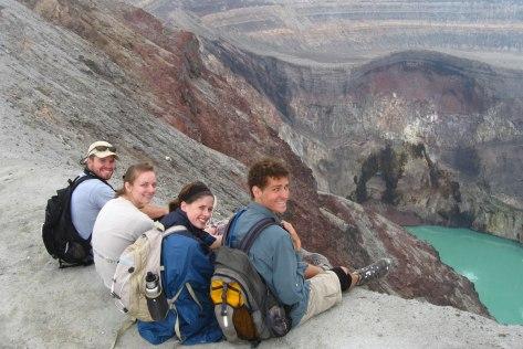 Cráter del volcán de Santa Ana.