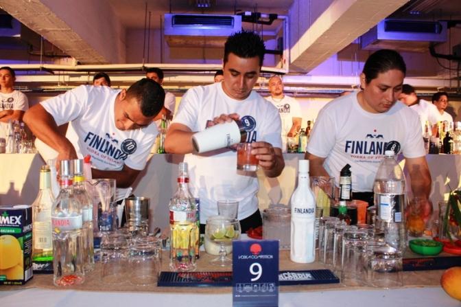 Finlandia Vodka Competition, el sitio de los mejores bar tenders de El Salvador