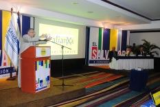 El Ministro de Turismo, José Napoléon Duarfte, durante la inauguración del evento. Foto Juan Borja