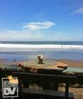 Playa El Zonte desde el hostal Olas Permanentes