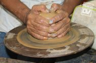 Ilobasco no se quedó atrás con la demostración de la elaboración de artesanías de barro.