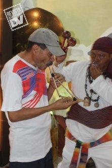 Izalco hizo una demostración de rituales que se hacen en el recorrido de la ruta Nahuatl Pipil