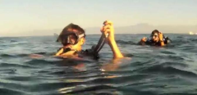 Buceando en la playa Los Cóbanos