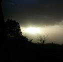 Polvo Sahara desde Cojutepeque.